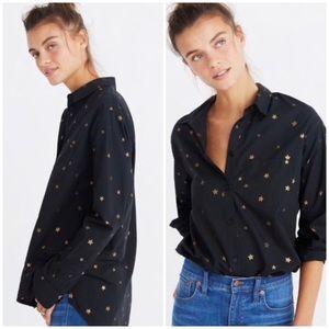 Madewell oversized ex-boyfriend shirt gold stars